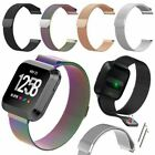 S/L For Fitbit Versa Watch Magnetic Milanese Loop Mesh Wrist Band Strap Bracelet image