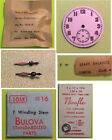 Bulova Wristwatch Parts Only-For 10AK 10-1/2 Lignes-WW-II Military-Dial-Bal.Etc. image