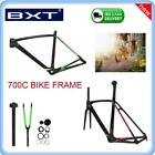 700C Carbon Fiber Bicycle Frame Front Fork Seat Post Middle Shaft for Cycling SP