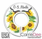 Sunflower Baby Clothes Size Dividers, Nursery Closet Organizers, Baby Girl Decor