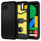 Google Pixel 4, Pixel 4 XL Case Spigen® [Tough Armor] Black Shockproof Cover