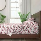 Retro Cherry Kitchen Decor Cherries 100% Cotton Sateen Sheet Set by Roostery