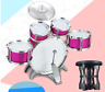 More images of Red Jazz Drum Set Kids Musical Toy Drum with Cymbals Stands Boys Toy Drum Kit~UK