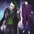 Batman Dark Knight Joker Cosplay Costume Uniform Halloween Custome for Men US