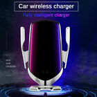 10W Wireless Car Phone Charger Auto Clamping Smart Sensor Fast Charger Holder US