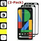 2X For Google Pixel 4/Pixel 4 XL Full Glue Cover Tempered Glass Screen Protector