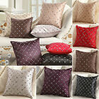 Checked Plaids Cotton Pillow Case Sofa Waist Throw Cushion Cover Home Decorative image