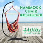 Hanging Rope Chair Porch Swing Garden Patio Hammock Indoor With C Stand 440 lbs