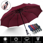 10 Ribs Strong Automatic Open Close Umbrella Folding Compact Windproof Travel 41