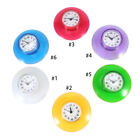 Round Small Wall Clock Suction Cup Quartz Clock Waterproof Home Bathroom Decor