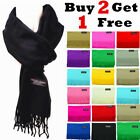 Winter Unisex Plain Solid Scarves 100 Cashmere Wool Warm Scarf Made in Scotland