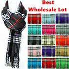 Unisex Winter Warm 100 Cashmere Wool Wrap Scarf Scotland Made Plaid Scarves Lot