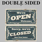 Retro Open and Closed sign double sided 9497 Shop Cafe Garage barber signs