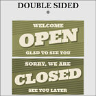 Retro Open and Closed sign double sided 9499 Shop Cafe Garage barber signs