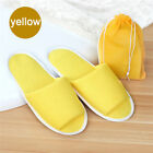 Travel Breathable Non Disposable Slippers Foldable Hotel SPA + Storage Bag 0VV!