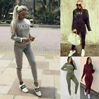 womens ladies long sleeve vogue lounge wear tracksuit set casual comfy two piece