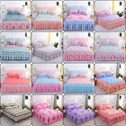 Home Flower Floral Bed Skirt Pillowcase Dust Ruffle Bedspread All Size Bedding image