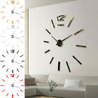 Wall Clock Watch Large Modern Sticker Decal Simple 3D Roman Numeral Home Decor