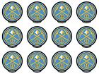 POWERDECAL PWR86001 Decal NBA (R) Series Denver Nuggets Logo 12 PACK on eBay