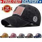 Baseball Cap Mens Tactical Army Cotton Military Dad Hat Usa American Flag Usa~