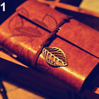 Faux Leather Leaf String Diary Notebook Journal Kraft Memo Handbook for Travel