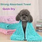 Pet Dog Cat Fast Drying Bath Towel Absorbent Microfiber Quick Dry Towel NEW UK