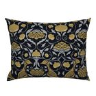 Bird Decorative Decor Black Home Fruit Pillow Sham by Roostery image