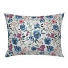 Girls Floral Nursery Decor Flower Modern Watercolor Baby Pillow Sham by Roostery image