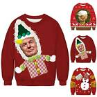Mens Womens Couple Christmas Ugly Sweater President Funny Xmas Pullover Jumper