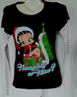 Betty Boop Long Sleeve Christmas T-Shirt Juniors*You Choose Size $9.95 USD on eBay