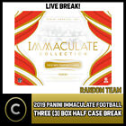 2019 PANINI IMMACULATE FOOTBALL 3 BOX (HALF CASE) BREAK #F367 - PICK YOUR TEAM $51.0 CAD on eBay