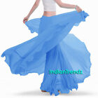 Steal Blue - 360 Full Circle Skirts Chiffon Long Swing Belly Dance Costume Maxi