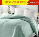 GOOSE DOWN ALTERNATIVE DOUBLE FILLED LUXURY COMFORTER KING QUEEN FULL 8 COLORS image