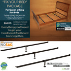 """Fix Your Bed"" Package - Queen/King Bed Rails, Center Support, Anti-Wobble Shims"
