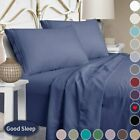 Top_Linens 4 6 Piece Bed Sheet Set - 100% Egyptian Comfort - 1800 Thread Count image
