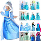 Kyпить Girls Cartoon Elsa Anna Princess Dress Kids Cosplay Costume Fancy Party Dress на еВаy.соm
