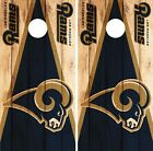 Los Angeles Rams Cornhole Skin Wrap NFL Wood Decal Vinyl Board Logo Art DR622 $39.99 USD on eBay