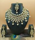 Indian New Choker Bollywood Necklace Pearl Earrings Tikka Jewellery Set