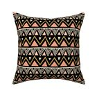 Tribal Boho Southwest Geometric Throw Pillow Cover w Optional Insert by Roostery