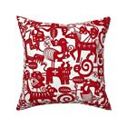 Zodiac Signs Astrology Paper Throw Pillow Cover w Optional Insert by Roostery