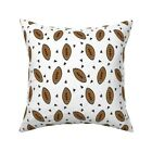 Football Nfl Sports Sport Throw Pillow Cover w Optional Insert by Roostery