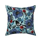 Vintage Floral Mod Tribal Throw Pillow Cover w Optional Insert by Roostery