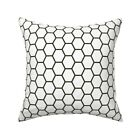 Subway Tile Geometric Black And Throw Pillow Cover w Optional Insert by Roostery