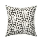 Tile Mosaic Black White Modern Throw Pillow Cover w Optional Insert by Roostery