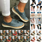 Womens Casual Shoes Slip On Plimsolls Loafers Flats Sneakers Trainers Shoes Size