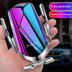 Automatic Clamping Qi Wireless Car Fast Charger Phone Holder Infrared Sensor USA