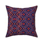 Bright Geometric Tie Dye Throw Pillow Cover w Optional Insert by Roostery