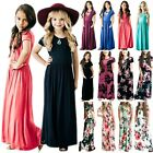 Kyпить Kids Girls Short Sleeve Boho Floral Long Maxi Dress Summer Casual Party Sundress на еВаy.соm