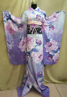 Womens Japanese Traditional Cotton Blend Long Kimono Cosplay Costume Large size