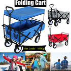 Garden Cart Wagon Folding Trolley Pull-Along Festival Camping Heavy Duty Compact